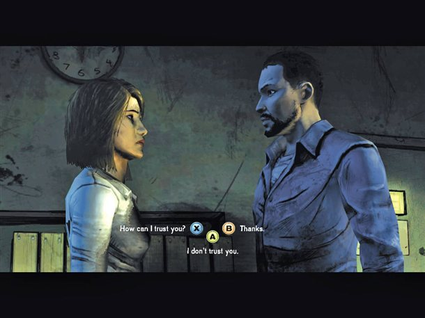 In The Walking Dead game by Telltale, dialog options can have effects that do not happen for hours.