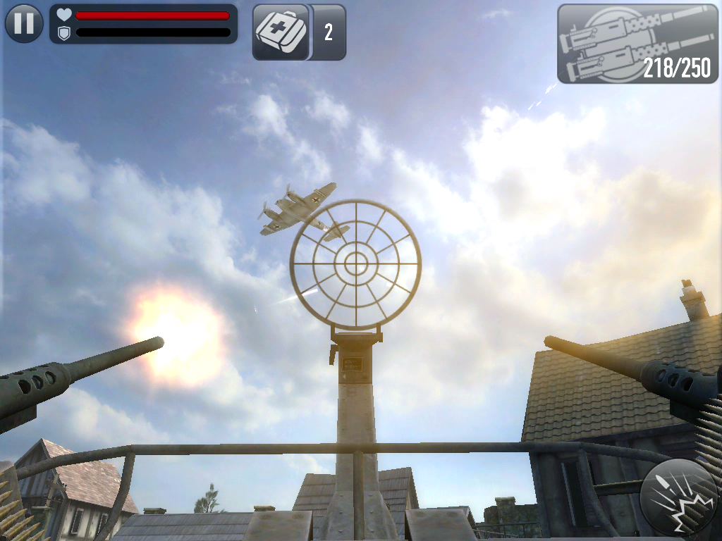 In Frontline Commando: D-Day hitting the planes is easy when they are flying straight.