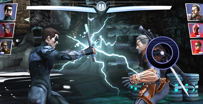 In Injustice - Gods among us the traditional controller has been substituted by an on screen stickpad emulator.