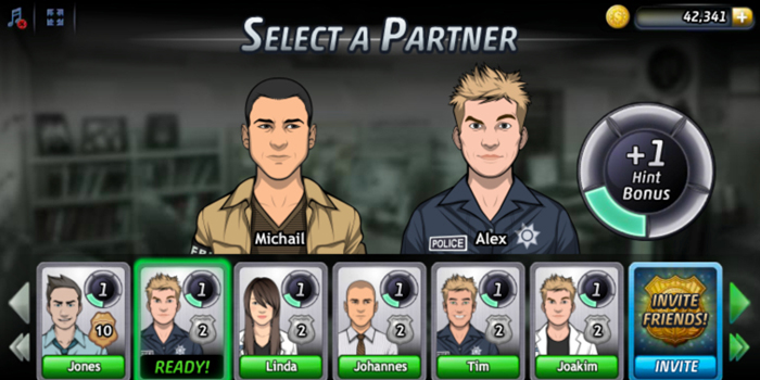 Friends are shown as Partners who'll offer 'Hints' during gameplay. Active players offer more hints and are thus more likely to get selected.