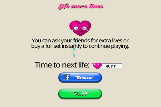 Buy Lives Mobile Game