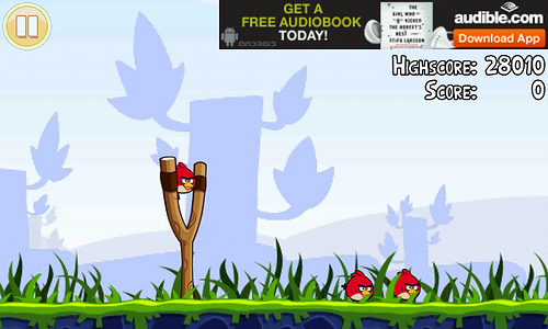 Banner Ads in Angry Birds