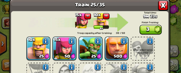 Unlocking new units in Clash of Clans is a clear goal for players. New units also promise better results in battle creating that positive incentive to progress.