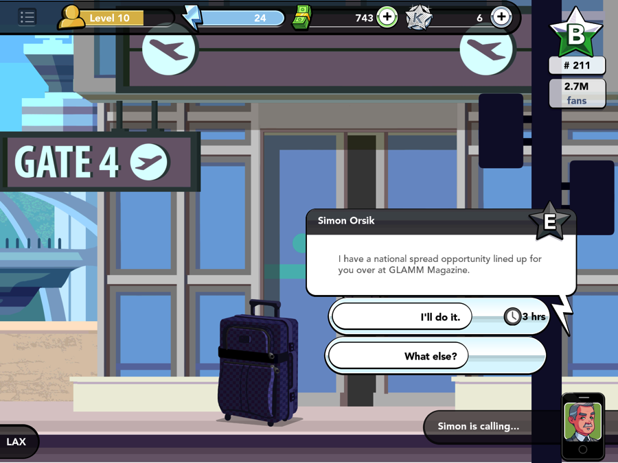 The algorithmic quest system combines a location, a job type, and a timer