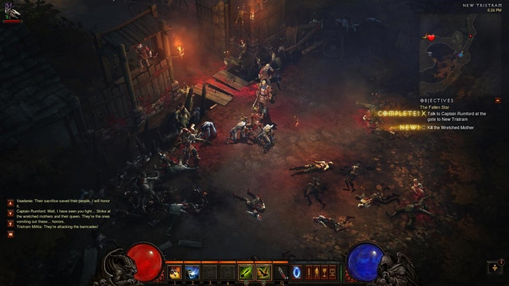 Diablo 3, a bit like World of Warcraft, gives you clear short term goals and a linear path to follow at first