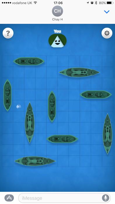 GamePigeon Battleship