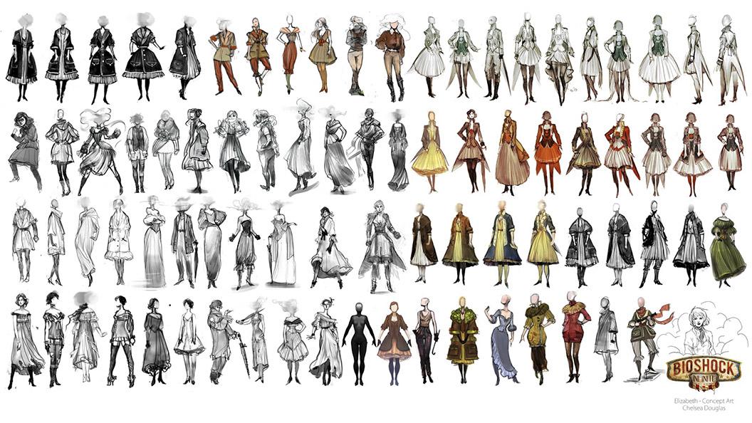 Bioshock Inifinite, Elisabeth concept art