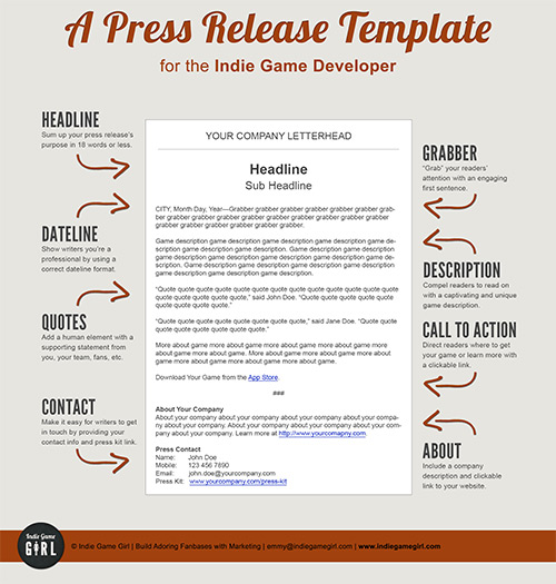 Press release template image