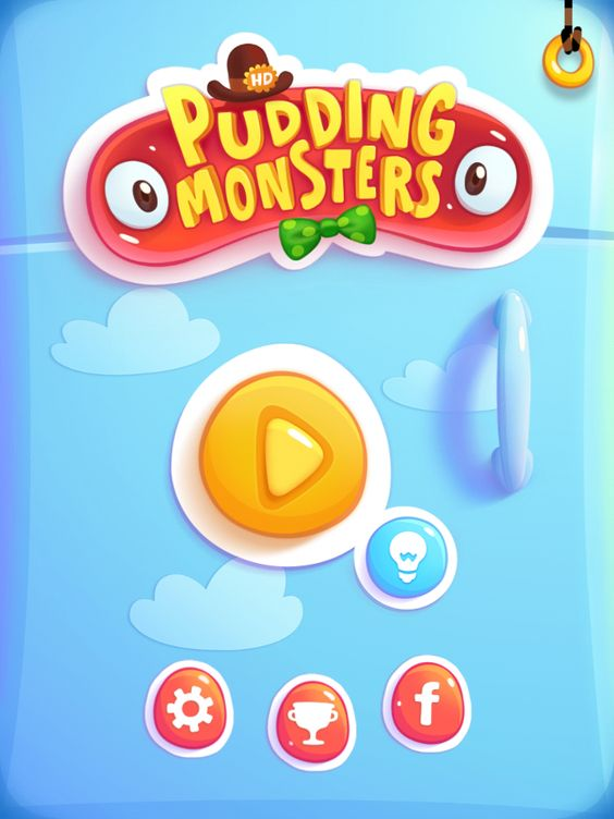 Pudding monsters main menu screen