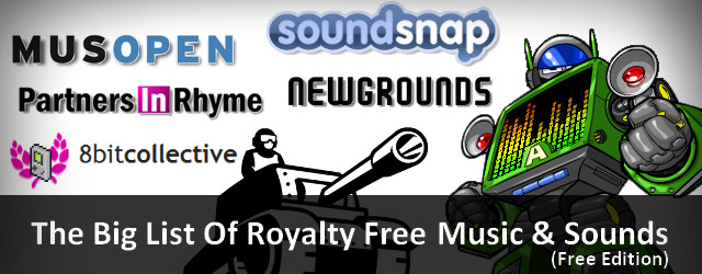 Pixel Prospector list of royalty free sounds banner